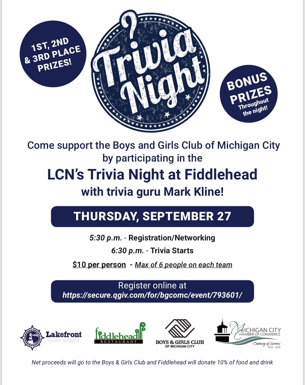 Lakefront Career Network Trivia Night